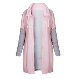 Autumn Women Fashion Clothing Patchwork Casual Long Coat Women Denim Jacket Long Cardigans Spring Outerwear Coats Female