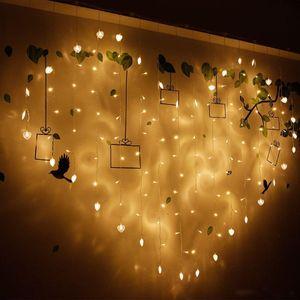 2M * 1.5M Liebesform LED-Schnur-Licht Vorhang Hochzeitshotel Valentinstag Ferien Lightings Luces Haus und Garten Beleuchtung