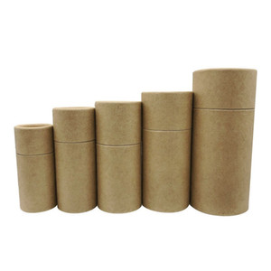 Premium Kraft Cardboard Tubes Case Packing box Kraft gift box for Essential Oil Bottle 10ml - 100ml