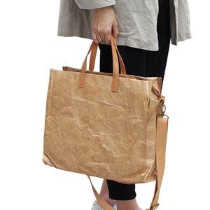 Frauen neueste Mode Handtaschen Lady Umhängetasche Kraft Paper Totes Messenger Bag Waschbar reißfest Umweltfreundlich