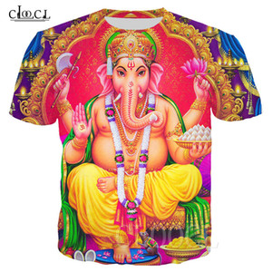 Hinduism God Ganesha T-shirts Women Men 3D Printed Ganesha Clothing Short Sleeve Fashion Streetwear Tops Drop Shipping