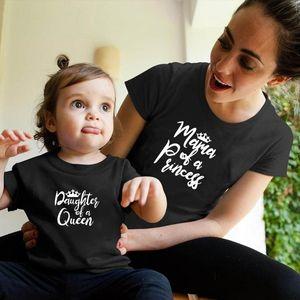 Matching família Outfits Mommy da princesa filha da rainha Mommy and Me Outfit
