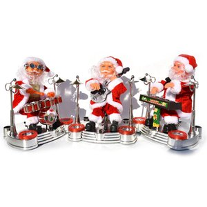 Hot New Santa Claus Singing Musical Santa Claus Plays The Piano Guitar Drumming Christmas Electric Music Doll Home Decoration