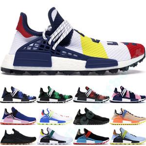2019 Raça Humana Sapatos de Grife BBC Pharrell Williams Sneakers Hu Pacote Solar Oreo Multi Color NERD Sapatos de Corrida de Golfe Das Mulheres Dos Homens 36-47