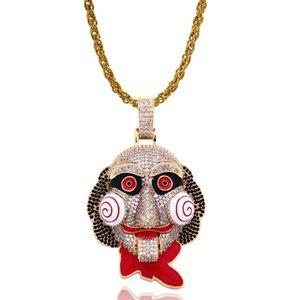 2021 Горячая распродажа Zircon Ожерелье Медно-Циркон Позолоченная Пила Потрясающая фигура Клоун Подвеска Ожерелье