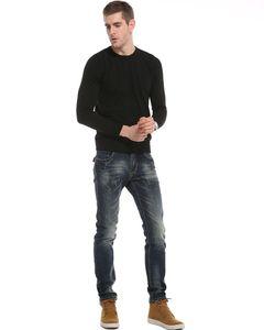 Denim Uzun Pantolon Erkekler Jeans, Sonbahar Kış 2018 Moda Günlük Pamuk Jeans Men İyi Kalite Yeni Kuyu
