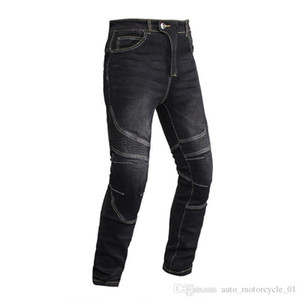 Motocentric Motosiklet Erkek Jeans Off-road Windproof Pantolon Motosiklet Açık Erkekler Jeans Yarış Diz korumak yastıkları pantolon Siyah