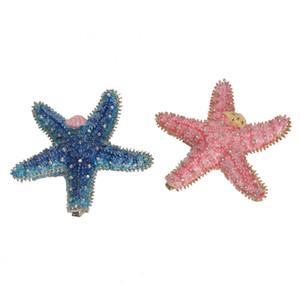 Starfish contenitore di monili in lega di metallo dorato gingillo mestiere Sealife tema nautico regali arredamento scatola di immagazzinaggio anello