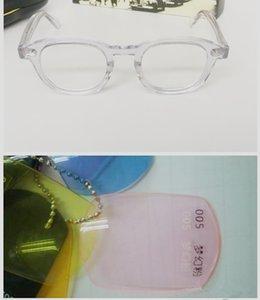 Accustomized Johnny Depp trasparente-orlo pieno-occhiali da sole tinti accustomized L M S protezione mangiare UVAB400 caso intero set outlet