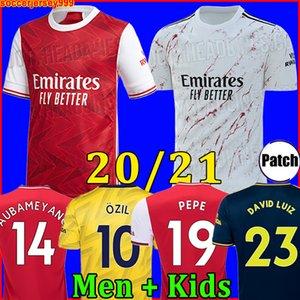 Arsenal maglia da calcio 20 21 soccer jersey football shirt PEPE Aubameyang Lacazette 2020 2021 Camiseta Xhaka Ozil del corredo di calcio della camicia uniformi
