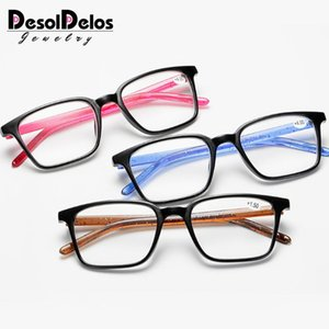 DesolDelos Men Ultralight Reading Glasses Women Anti Fatigue Reading Eyeglasses Female Presbyopic Prescription Eyewear