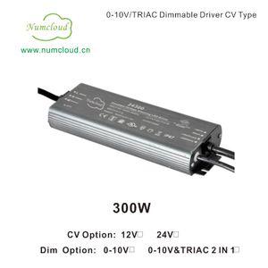 CV 12V 24V 300W Ultra Thin 0-10V(1-10V 10V PWM) Dimmable Driver