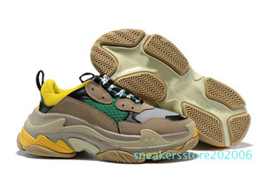 2020 Fashion Paris 17FW Triple-S Sneaker Triple S Casual Dad Shoes for Men Women Beige Sports Tennis Luxury Designer Running Shoe 36-45 06s