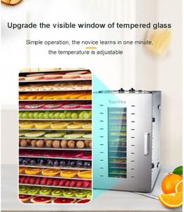 2020Selling paslanmaz steel16 Tepsi Meyve Dehydrator Makinası Meyve Sebze Et Çay Balık Kurutucu Gıda Kurutucu ST-02