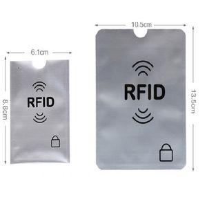 Manicotti per le carte di credito del passaporto RFID Blocking maniche Anti Theft RFID Card Protector RFID Blocking manica identità Anti-Scan Card Sleeve