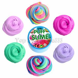 Слоеная слизь шпатлевка DIY слизь игрушки кружка шпатлевка игрушка 10 цветов 100 г / коробка детские декомпрессионные игрушки оптом