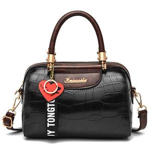 Leather Bags For Women 2019 Handbag High Quality Stone Pattern Elegant Zipper Female Shoulder Bag Women