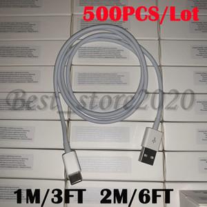 500PCS 7 أجيال الأصلية OEM جودة 1M / 3FT 2M / و 6ft USB لشحن البطارية مزامنة بيانات كابل الهاتف مع مربع التجزئة الجديدة