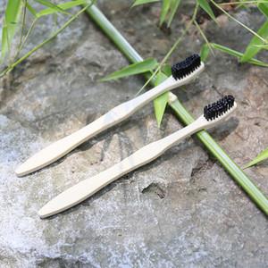Bambù naturale Spazzolino da denti usa e getta di viaggio Hotel setole morbide naturalistico fibra di bambù maniglia di legno Spazzolino per adulti RRA1630