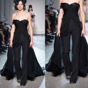 Черные Комбинезоны Вечерние Платья Сексуальные Милые Пром Платья Брюки Для Женщин На Заказ Вечернее Платье