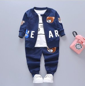 Best selling children's wear 1-3 years old boy's spring and autumn three piece suit