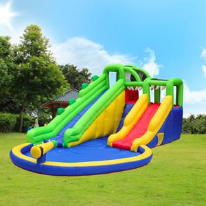 Lustige aufblasbares Krokodil Slides Mit Pool Gewerbe Hüpfburgen zum Verkauf Crocodile Aufblasbare Wasserrutsche mit Pool-Wasser-Spray Slide