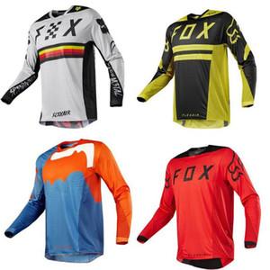 Fox in discesa tuta moto lungo T-shirt in jersey di moto in discesa in mountain bike ad asciugatura rapida maniche lunghe