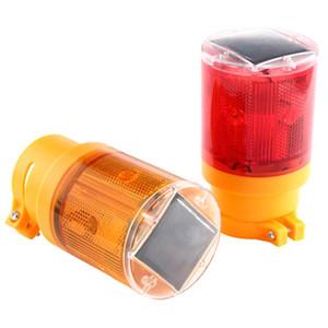 Солнечная светодиодная аварийная лампа 100 лм яркий фонарик трафика сигнальная лампа с солнечной батареи мигалка для наружного освещения