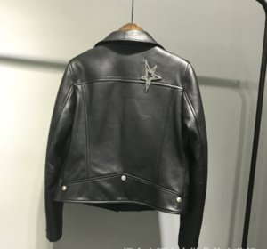 brand leather jacket for women short style trendy sheep leather locomotive leather jacket coat for autumn winter 2019