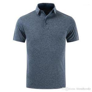 Male Apparel Mens Lapel Neck Short Sleeved Tshirts Slim Sports Mens Designer Polos Golf Solid Mens Tops