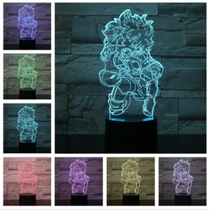Cartoon Anime Boku No My Hero Lampada da tavolo Academia Camera da letto Bambino Bambini Regali di Natale Comic Manga Midoriya Izuku Figura Night Light LED Home Decor