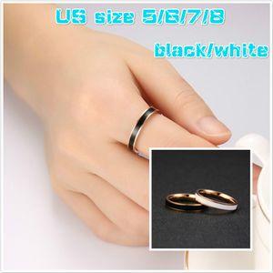 3.5mm 2 cores disponíveis Fashion Style Couple presente Jóias Anéis de aço inoxidável Anel por Mulheres J226