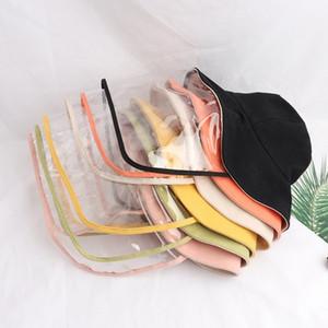 투명 보호는 어린이 안티 침 페이스 마스크 어부의 모자 안티 스플래쉬 풀 페이스 눈 보호 모자 어린이 6 색 X64FZ 캡