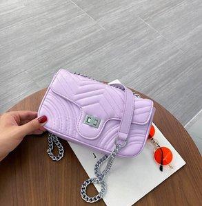 Donne Arcobaleno nuovo modo la catena di borsa borse a spalla più colore Plain Crossbody Bag Donna borse all'ingrosso