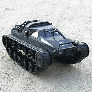 RC 01h12 EV2 rugueux dentelée Tank Car Toy, haute vitesse 12KM / H Tracked Drift Chariot, 30 ° Climbe, 360 ° Rotation, lumières LED, Kid cadeau d'anniversaire, 2-1