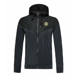 Irlanda del Nord squadra nazionale di calcio giacca a vento cappotto, giacca sportiva di calcio a vento caldo di vendita può essere personalizzato fai da te Giacche corsa