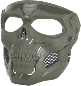 Atairsoft Tactical Protective Skull all Face Mask for Airsoft Paintball Cosplay Cosplay