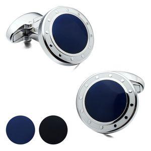 Marchio di lusso Hawson Gemelli uomo BlueBlack Cuff collega Designer francese di polsino in vendita Navy