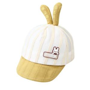 2020 ребенка шляпу весной и летом тонкий раздел 3-6-12 месяцев милый кролик бейсболки мужчин и женщин детские шапки Зонт