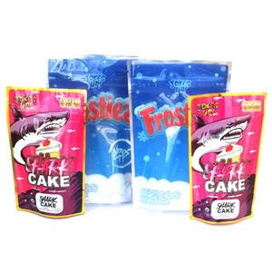 Şaka UP! Köpekbalığı Kek Çanta Altın Versiyon'un 3.5g Frosties Frostiez SharkCake DHL Serbest Packaging Dayanıklı Mylar Çanta kokla