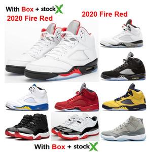 2020 OG 5 Fire Red 5S Bred 11s 2019 New sapatilhas tênis dos homens Mulheres de basquetebol com Caixa Baixa criados concórdia 11