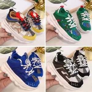 Versace Chain Reaction Cross Chainer Мужская обувь Дизайнерские море лес Закат на море Лес в пустыне Тройной черный лава Будущие кроссовки Мужчины Женщины Тренеры кроссовки