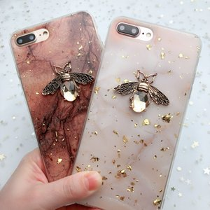 Shining 3D Metal Bee Case For iPhone 11 Pro X XR XS Max 7 8 6 6s Plus Soft Cover On P20 P30 lite Honor 10 8X 9 Mate 10 20 Pro