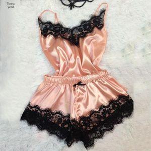 섹시한 패션 레이스 잠옷 란제리 유혹 잠옷 속옷 베이비 돌 여성 잠옷 파자마 세트 Pijama Mujer 2019