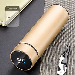 Dokunmatik Ekran Sıcaklık Şişe 6 Renkler Paslanmaz Çelik Akıllı Termal LCD Dokunmatik Ekran Yalıtım Vakum Kupalar LJJO7971