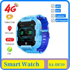 25x DF39 4g crianças relógio inteligente GPS Tracker IP67 Waterproof Video Call Camera GPS LBS WIFI Localização 4g Assista Smartwatch caçoa o presente do Relógio