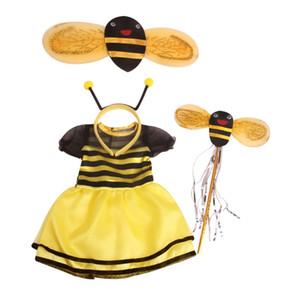 """Ropa de la muñeca de la abeja 18"""" para el vestido de la muñeca americana del traje de Halloween Headwear"""