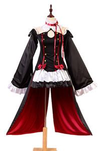 Anime Serafim do fim Costume Krul Tepes Cosplay Vestido Lolita traje do vampiro Conjunto completo Uniform Mulheres traje Carnaval Halloween