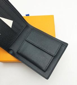 상자 파리 격자 무늬 체크 스타일 디자이너 남성 지갑 유명한 남성 럭셔리 Bifold 지갑 코인 포켓 여러 짧은 작은 지갑