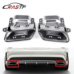 RASTP-Egzoz İpucu Paslanmaz Çelik Susturucu Boru Mercedes Benz 2013-2015 A45 W176 RS-CR2003 için Arka Kuyruk Gırtlak Modifiye